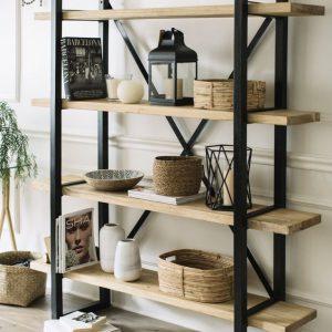 قفسه های چوبی فلزی