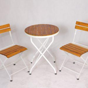 میز و صندلی تاشو گرد